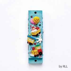 Polyresin Mezuzah Toys and Balloons Design 7.5cm