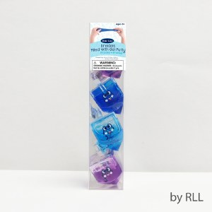Dreidels Set of 4 Filled with Color Gel Putty