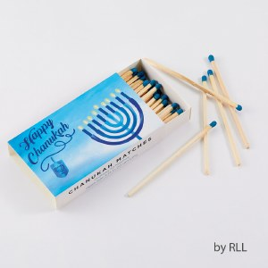 Chanukah Long Matches in Rectangle Gift Box