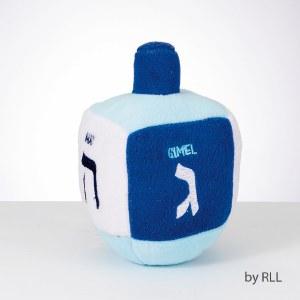 Chewdaica Dog Dreidel Squeaky Plush Toy