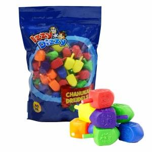 Bulk pack of 100 Medium Plastic Dreidels
