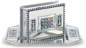 Metal Match Box Holder with Tray Choshen Design