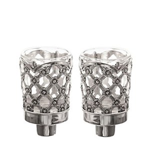 Candle Holders XP Design Silver Plated 3""