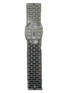 Acrylic Mezuzah Case Designed with Silver Chabad 770 Building 15cm