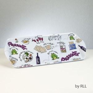 Rectangle Melamine Tray Passover Potpourri Design