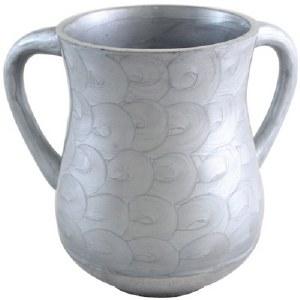 Aluminum Washing Cup Grey Waves Design