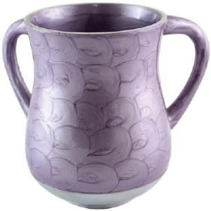 Aluminum Washing Cup Purple Waves Design
