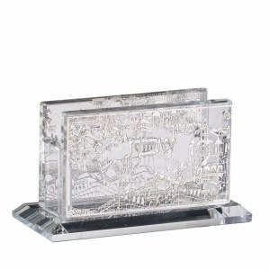 Crystal Mini Match Box Holder Jerusalem Design