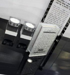 Match Box Cover Lucite Silver Sparkle Design