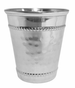Hammered Stainless Steel Kiddush Cup 3.6 oz