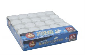 European Travel Tealight Candles in Clear Cups - 50 Pack