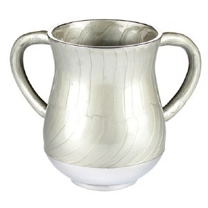 Aluminum Washing Cup Elegant Design Light Silver Color