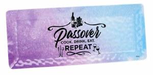 Passover Splash Rectangle Melamine Tray