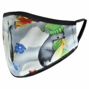 Cloth Face Mask Penguin Print Design Child Size