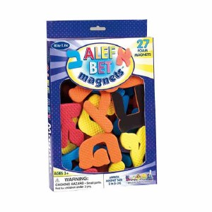 Alef Bet Foam Magnets