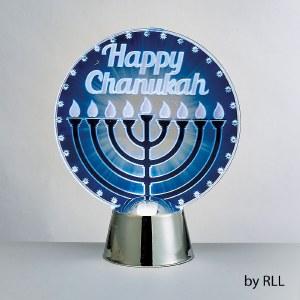 Chanukah LED Light Up Decoration Menorah Design
