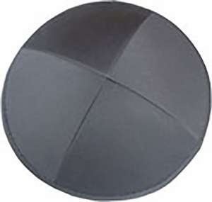 Cool Kippah Slate Grey Cotton Twill 4 Part 19cm