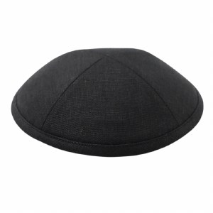 Cool Kippah Black Linen 4 Part 16 CM