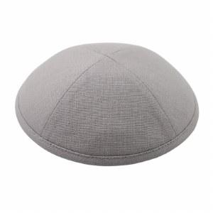 Cool Kippah Grey Linen 4 Part 18cm