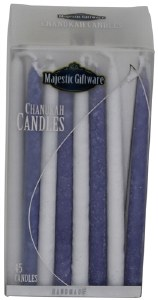 Chanukah Candles Blue and White Premium Collection 45 Count