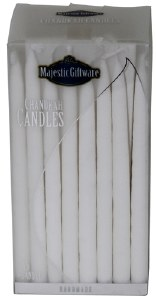 Chanukah Candles White Premium Collection 45 Count