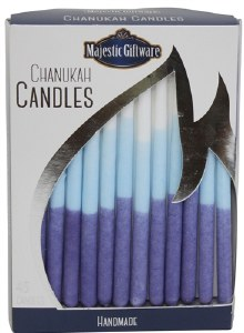 Chanukah Candles Blue and White Executive Collection 45 Count