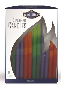 Chanukah Candles Blue Orange and Green Executive Collection 45 Count 6""