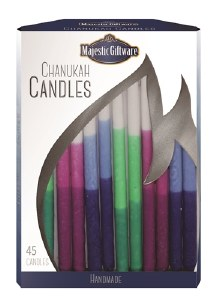 """Chanukah Candles Blue Pink and Green Executive Collection 45 Count 6"""""""