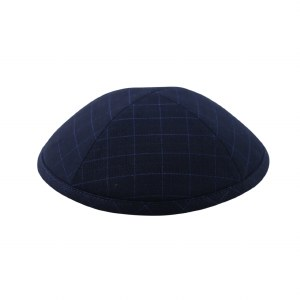 Cool Kippah Navy Executive Check Suit Material 4 Part #4