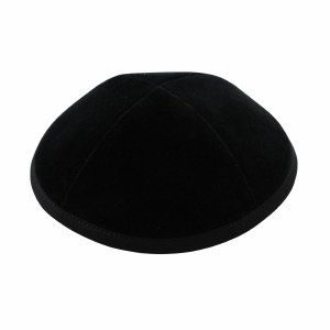 Cool Kippah Black Velvet 4 Part 17cm