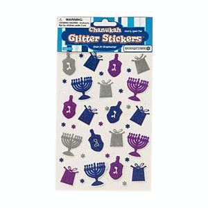 Chanukah Glitter Stickers
