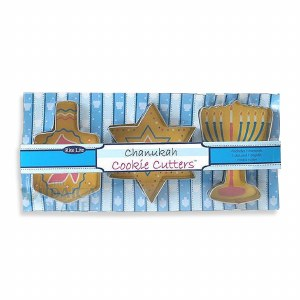 Chanukah Metal Cookie Cutters - 3 Assorted Shapes