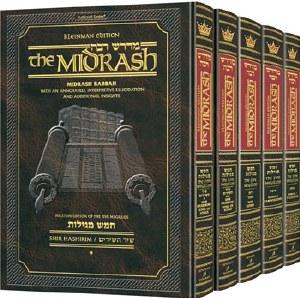 Kleinman Ed Midrash Rabbah: Complete 5 volume set of the Megillos Full Size [Hardcover]