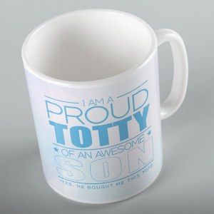 Jewish Phrase Mug I am a Proud Totty of an Awesome Son 11oz