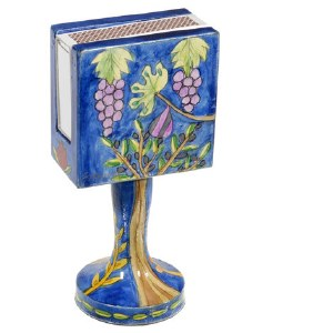 Yair Emanuel Standing Matchbox Holder with Matchbox Grapes