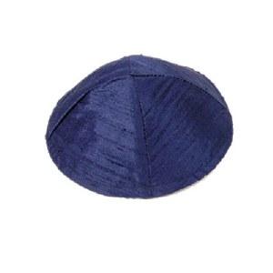 Yair Emanuel Raw Silk Kippah - Blue