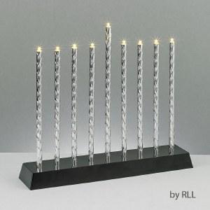 LED Electric Menorah Diamond Cut Aluminum Tubes