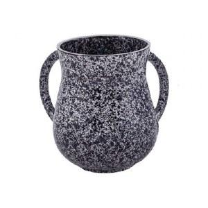Wash Cup Metal Black Marble Design by Yair Emanuel