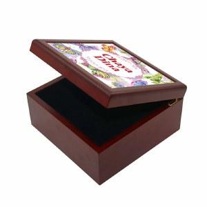 Girls Keepsake Box Butterfly Design