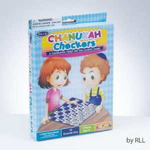 Chanukah Checkers Game 24 Pieces