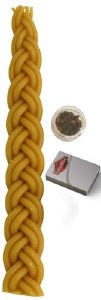 """Havdallah Candle Set Yellow Includes Spices and Matches 10"""""""