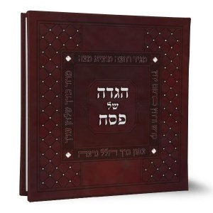 Haggadah Shel Pesach Square Shaped Brown with Crystals Edut Mizrach [Hardcover]