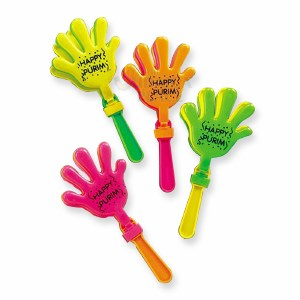Hand Clapping Purim Graggers - Assorted Colors - Single Piece