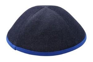 iKippah Denim with Royal Blue Rim Size 5