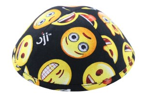 iKippah Emojis Black Size 3