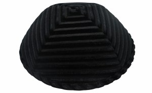 iKippah Striped Velvet Black Size 18cm