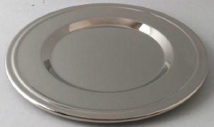 Kiddush Cup Tray Round with Rim
