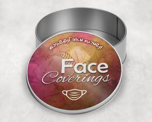 """Keepsake Face Coverings Mask Container 6"""""""