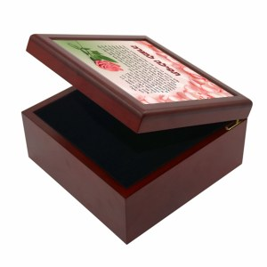 Tefillah L'Morah Keepsake Box Flower Design