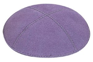 Lavender Suede Kippah Extra Small